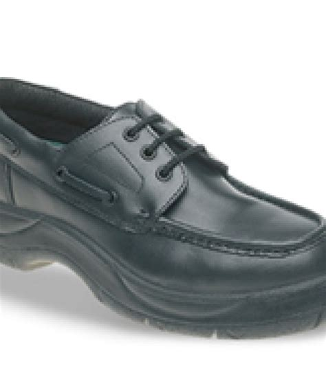 Boat Shoes Extra Wide by Himalayan 710 Black Leather Safety Boat Shoes Extra Wide