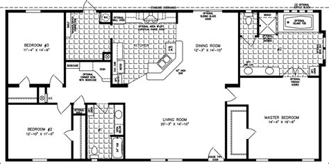 sq ft manufactured home floor plans jacobsen homes