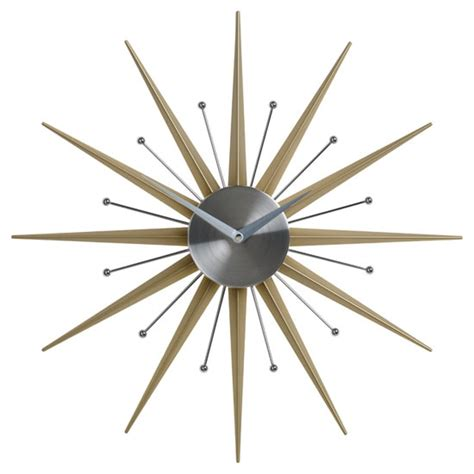 mid century modern outdoor mid century modern style wall clocks by nuevo living