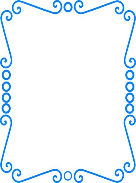 scrolly frame blue clip art  clkercom vector clip art