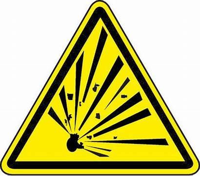 Explosive Hazard Material Symbol Triangle Iso