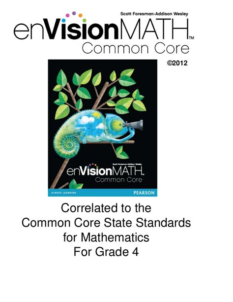 Envision Math Common Core
