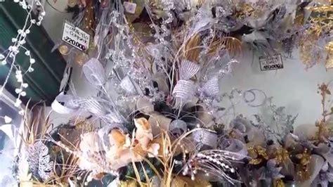decoracion arboles de navidad 2017 plata y dorado parte 7
