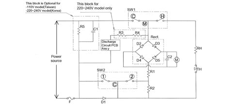 panasonic national ionity hair dryer electronic schematic disassembly