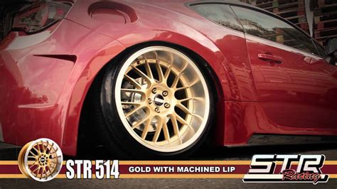 staggered str wheels  gold jdm style rims str