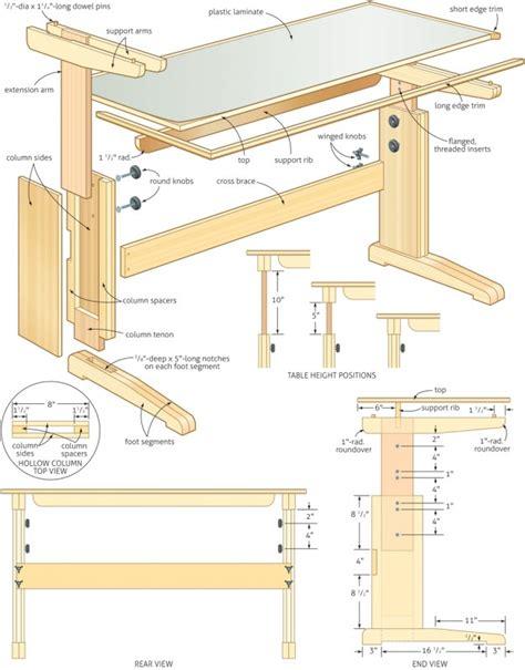 woodwork adjustable work table plans  plans
