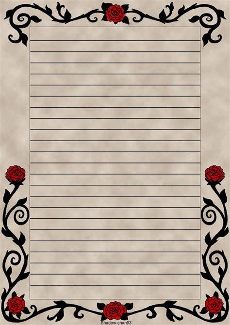 letter paper red rose  shadow chan  deviantart