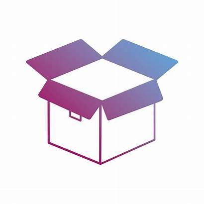 Package Box Open Contour Vector Clipart Vectors