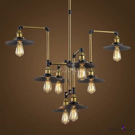 industrial looking light fixtures industrial style 8 light large led pendant chandelier