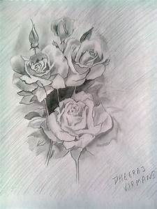 Pencil Sketch of Roses | DesiPainters.com