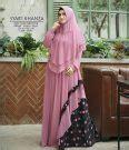 Savira Dress By Butik Khanza gaun mix brokat model maxi dress hijabers terbaru