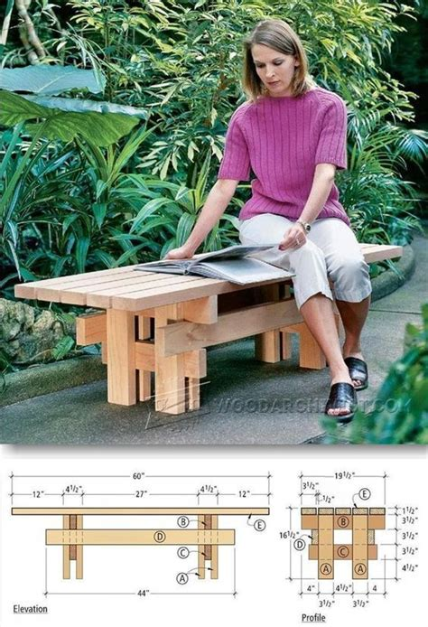 japanese garden bench plans outdoor furniture plans