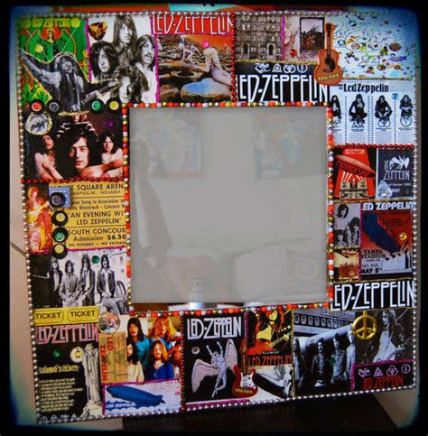 Led Zeppelin Wall Art Rock N Roll Decor From Kitschyritch