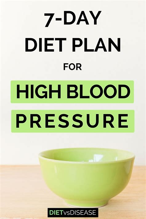 7-Day Diet Plan For High Blood Pressure (Dietitian-Made