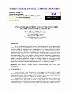 Single period inventory model with stochastic demand and ...