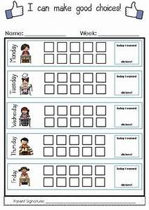 English Language Charts I Can Make Good Choices Weekly Sticker Chart By Mrs Penn Tpt