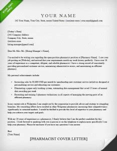 Pharmacist Cover Letter by Pharmacy Technician Resume Sle Writing Guide