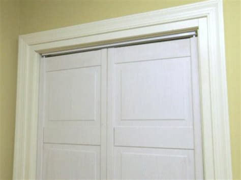 Repairing Bifold Closet Doors by How To Replace A Closet Door Track Hgtv