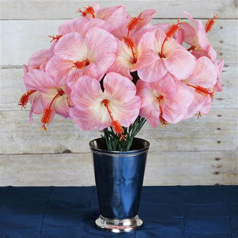 60 pcs silk hibiscus flowers for wedding bouquets