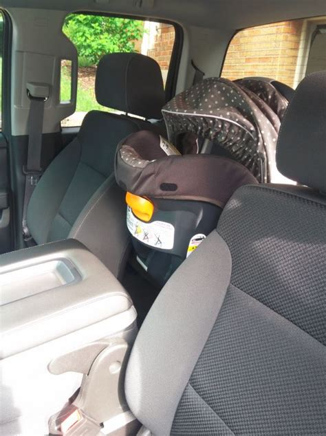 rear facing car seat  double cab page