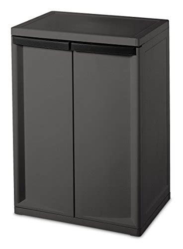 sterilite 01403v01 2 shelf cabinet flat gray 1 pack rings n rollers