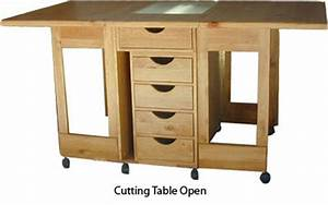 Folding cutting table with ironing board open Flickr