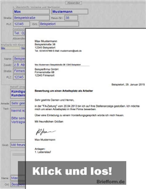 briefformde kostenlose musterbriefe vorlagen und