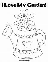 Coloring Garden Sheets Printable Colouring Springtime Colorir Pdf Jardim Imagens Encantado Clipart Bordado Library Bordar Manualidades Watering Comments God Bordados sketch template