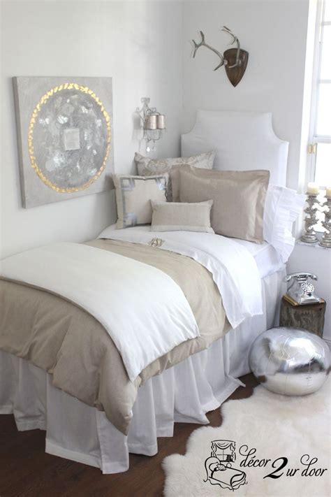 neutral colored bedding neutral dorm room bedding grey sophisticated bedroom and pottery