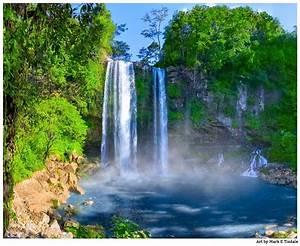 Beautiful Waterfalls in Chiapas - Mexican Landscape Art Print