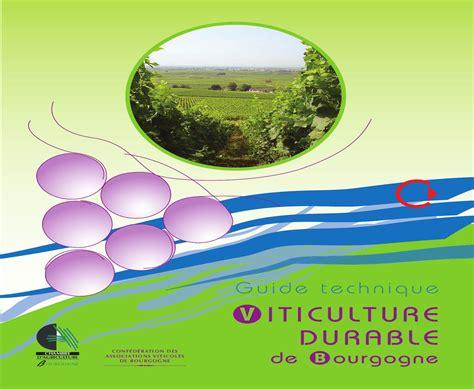 chambre agriculture bourgogne guide technique viticulture durable de bourgogne by
