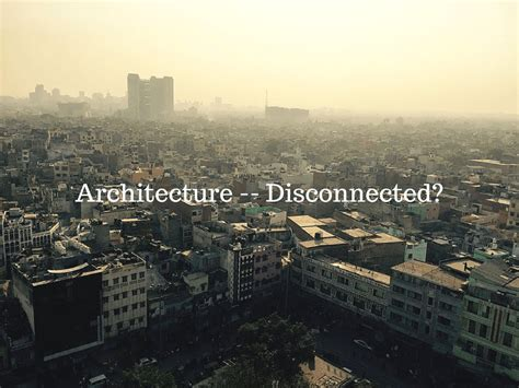 the definition of architecture itself is in confusion