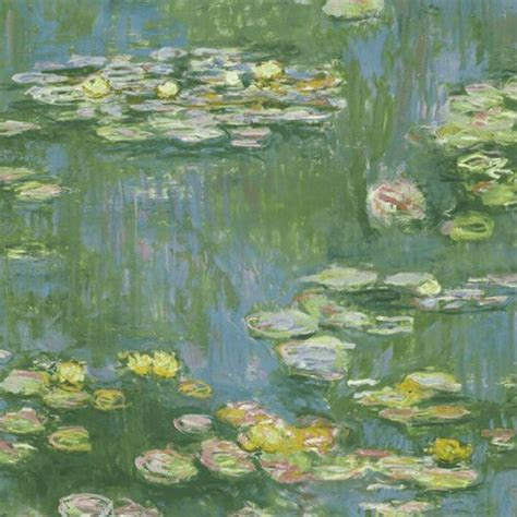 lily pads wallpaper  french impressionist  seabrook lelands