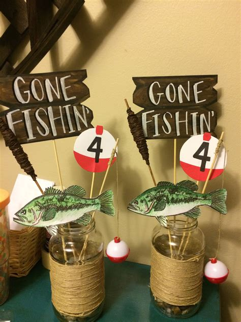 Little Boy Fishing Party Table Centerpieces  Gage's 4th