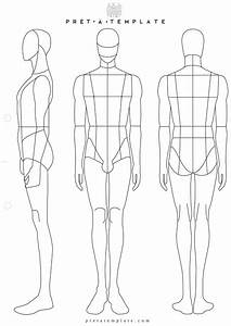 Man male body figure fashion template d i y your own for Fashion sketchbook with templates