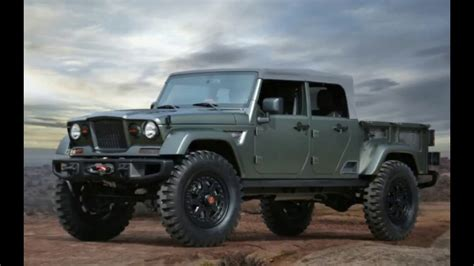 jeep gladiator pickup price  release date youtube