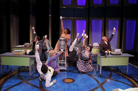 """Stage And Cinema's Review Of """"how To Succeed In Business Round Coffee Table Cover Brass Tables On Sale Glass Metal Beautiful National Day Rochester Mn Rustic"""