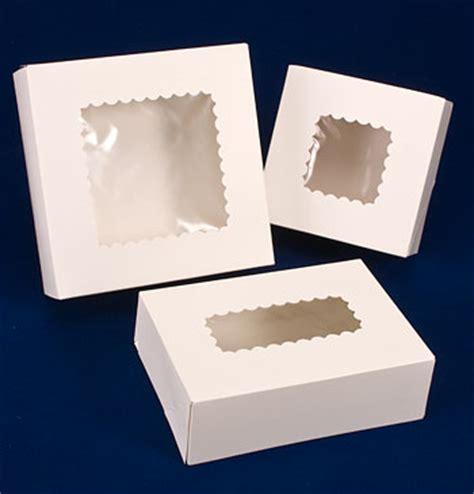 White Windowed Cake Bakery Boxes  Us Box Corp