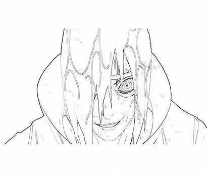 Nagato Naruto Pain Coloring Pages Paths Six