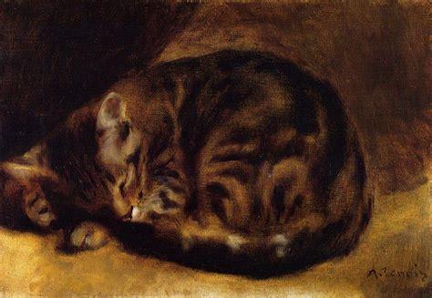 The Athenaeum Sleeping Cat Pierre Auguste Renoir
