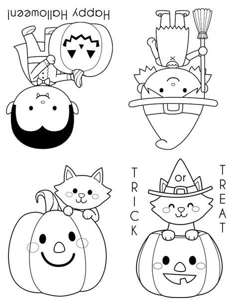 printable halloween coloring books happiness  homemade