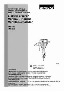 Download Free Pdf For Makita Hm1810 Electric Breaker Other