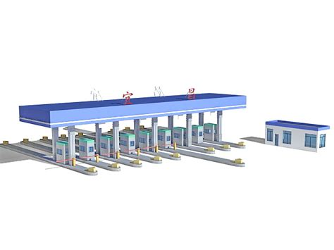 electronic fence highway toll booth 3d model 3ds max files free