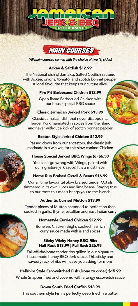 Menu | Jamaican Jerk & BBQ Restaurant