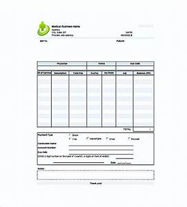 medical invoice template With medical invoice template