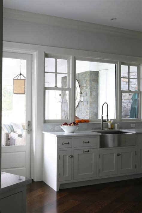 stainless steel apron sink white cabinets stainless steel apron sink transitional kitchen
