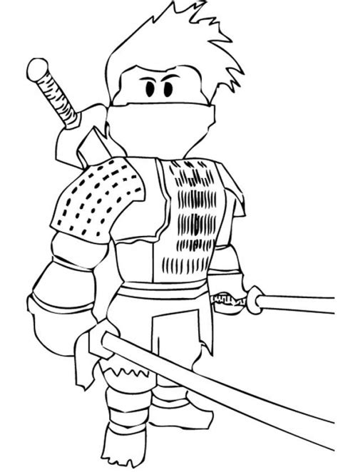 Kleurplaat Roblox by Roblox Coloring Page Sketch Coloring Page