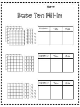 place  worksheets  grade  tens hundreds