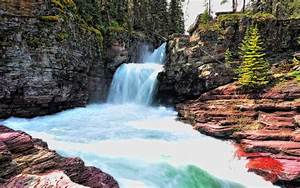 St, Mary, Falls, Glacier, National, Park, Wallpapers, Hd, Desktop, And, Mobile, Backgrounds