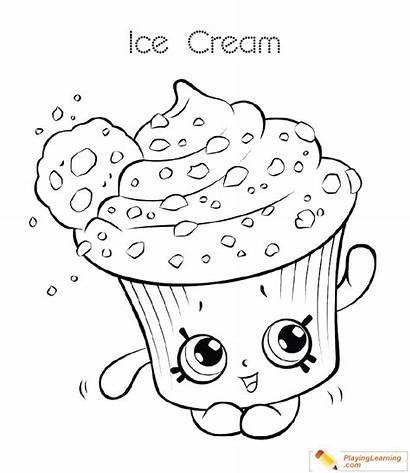 Coloring Ice Cream Cup Pages Sheet Date